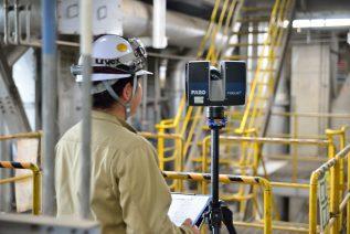 愛知県東海市名古屋製鉄所構内の3Dレーザースキャン測定を実施しましたイメージ